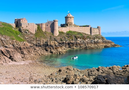 fort la latte on cote de granit rose coast of english channel b stock photo © capturelight