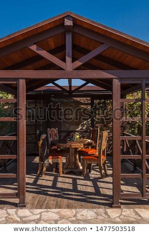 вход просторный зеленый газона вертикальный Сток-фото © iofoto