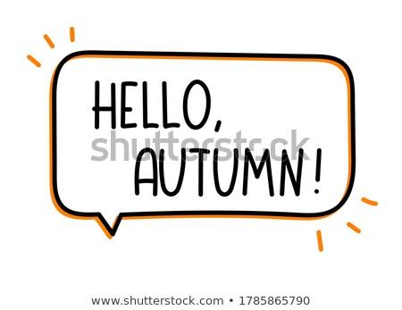 Zdjęcia stock: Jesienią · znacznik · strony · piśmie · inny