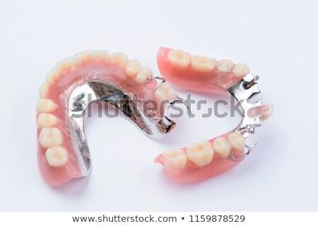 sorrir · dentes · rir · branco · limpar · rosa - foto stock © luissantos84