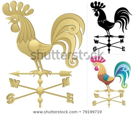 kurczaka · szeryf · daleko · zachód · pistolet · funny - zdjęcia stock © njnightsky