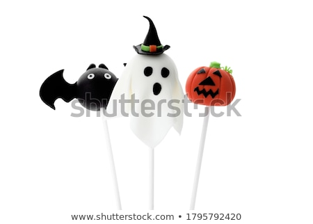 Halloween banketbakkerij voedsel dessert cookie pop Stockfoto © M-studio
