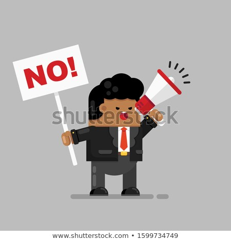 African Businessman protests no Stock photo © studiostoks