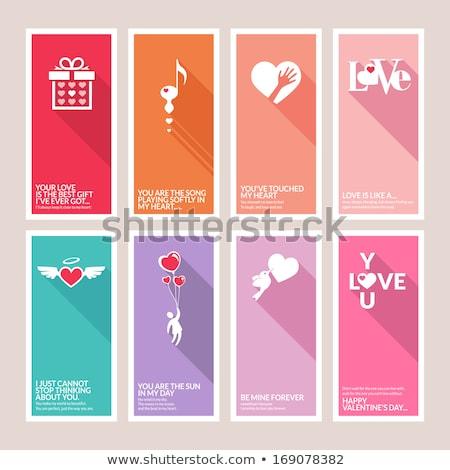 Liefde poster ontwerp grunge gelukkig paar Stockfoto © tashatuvango