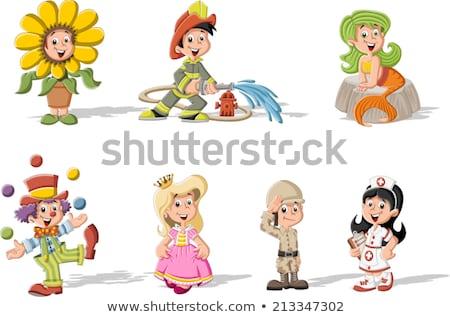 Mooi meisje halloween zeemeermin kostuum cute Stockfoto © zooco