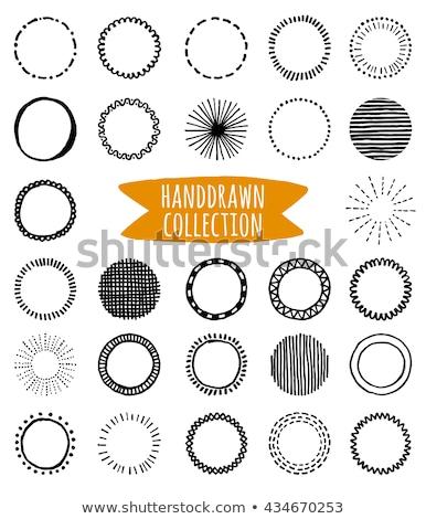 Set of Hand drawn circles, vector logo design elements. Marker, felt pen, liner style. Stock photo © JeksonGraphics