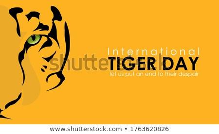 国際 虎 日 カレンダー グリーティングカード 休日 ストックフォト © Olena