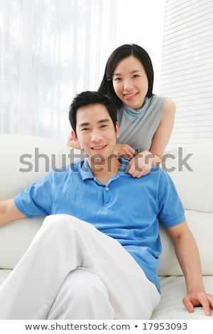 Young asian happy bridegroom. Stock photo © RAStudio