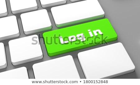 green subscribe keypad on keyboard 3d stock photo © tashatuvango