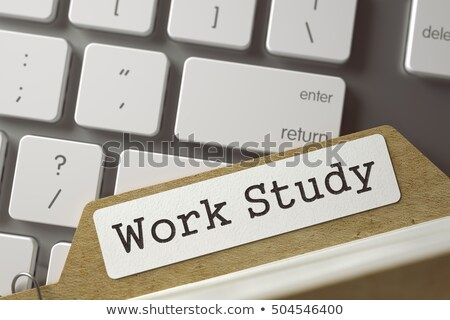 Stock photo: Card File with Work Study. 3D.