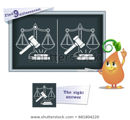 game find 9 differences  justice Stock photo © Olena