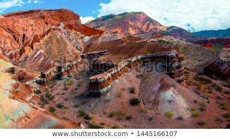 Argentinien Wolken Landschaft Wüste Berg orange Stock foto © daboost