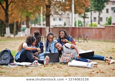 multiethnic friends spending time together stock photo © lightfieldstudios