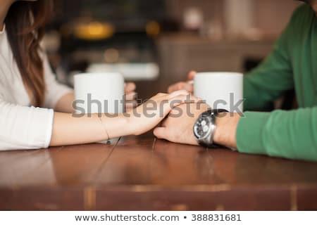 пару кофе ресторан счастливым человека таблице Сток-фото © wavebreak_media