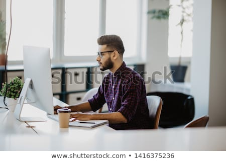 Young business man with folder Stock photo © IS2