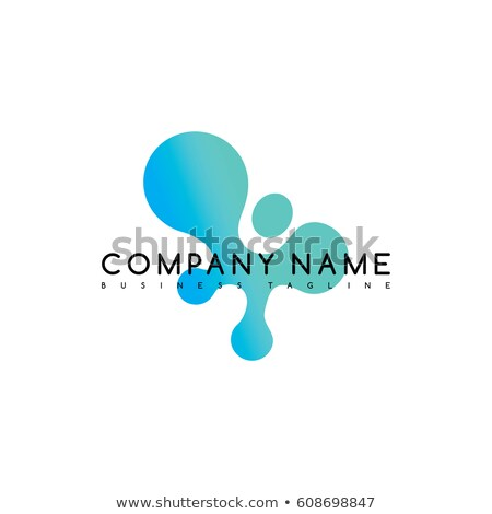 water liquid drip spill icon logo logotype vector art Stock photo © vector1st
