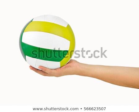 Volleybal witte gelukkig fitness Stockfoto © wavebreak_media