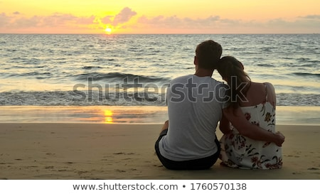 Couple hugging at beach Stock photo © IS2