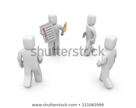 クリップボード 募集 計画 3D 文字 紙 ストックフォト © tashatuvango