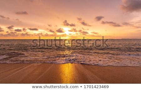 тропические океана пляж люди закат Бали Сток-фото © joyr
