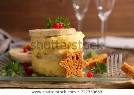 foie gras and mashed potato Stock photo © M-studio