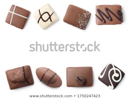 beaucoup · différent · bonbons · coco · blanche · espace · de · copie - photo stock © Illia
