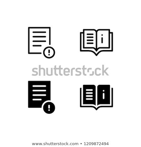 Felhasználó útmutató néz információ tabletta nagyító Stock fotó © RAStudio