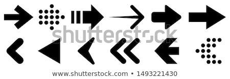 Szett különböző nyilak izolált fehér fekete Stock fotó © DeCe