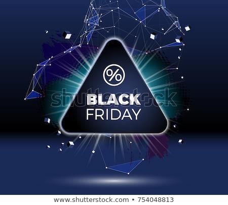 черная пятница продажи плакат баннер эмблема Сток-фото © SwillSkill