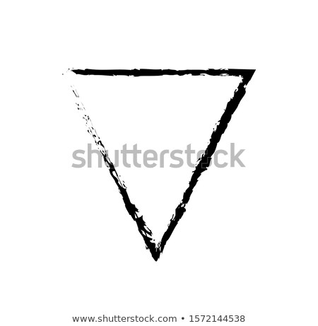 Inverted Triangle Black Outline 80s Style Sketch Stock photo © robuart