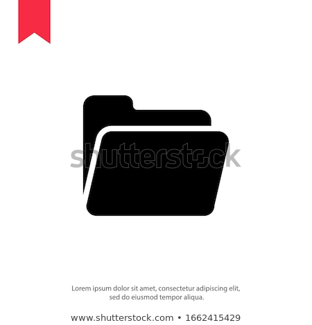 Folder Icon with user icon in trendy flat style isolated on white background, for your web site desi stock photo © kyryloff