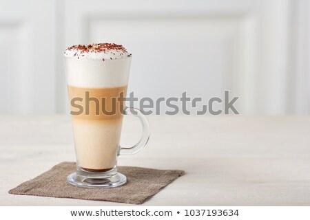 Tall glass coffee latte Stock photo © grafvision