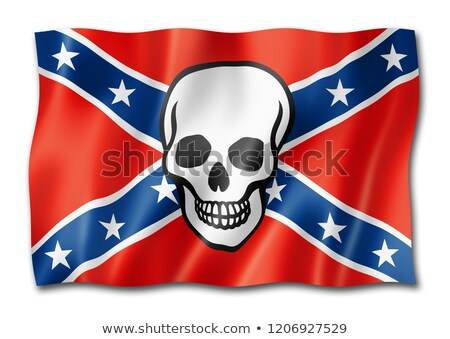 Confederate death flag isolated on white Stock photo © daboost