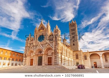 Katedrális Toszkána Olaszország tavasz város naplemente Stock fotó © benkrut