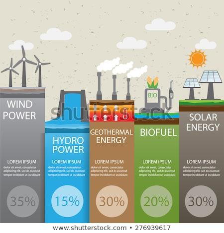 potere · energia · illustrazioni · diverso · generazione · vento - foto d'archivio © rastudio