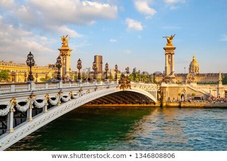 Bridge across Seine river Stock photo © vapi