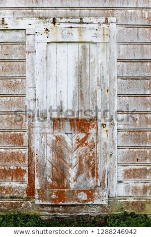 Vintage door built in 1850s at the old dairy ranch of  Pierce Point Ranch. Stock photo © yhelfman