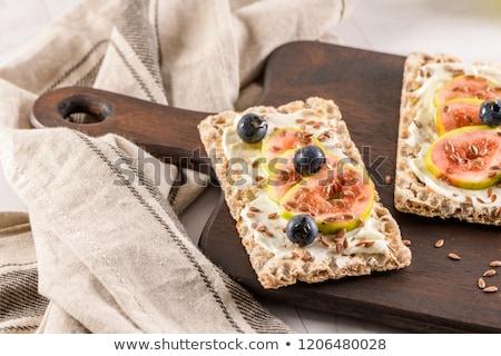 Multigrain crispread appetizer Stock photo © homydesign