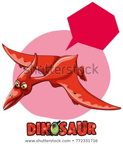 наклейку дизайна динозавр Flying иллюстрация природы Сток-фото © colematt
