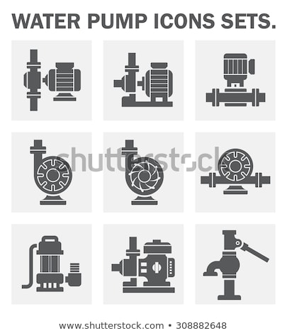 Submersible water pump icon Stock photo © angelp