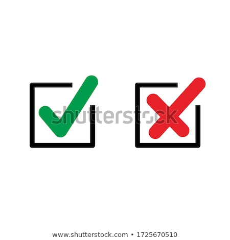 Mark in Form of Cross Check Sign Isolated Icon Vector Stock photo © robuart