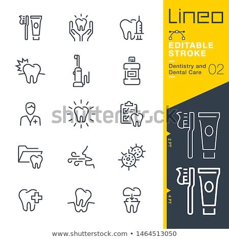 Dolor de muelas línea icono vector aislado blanco Foto stock © smoki