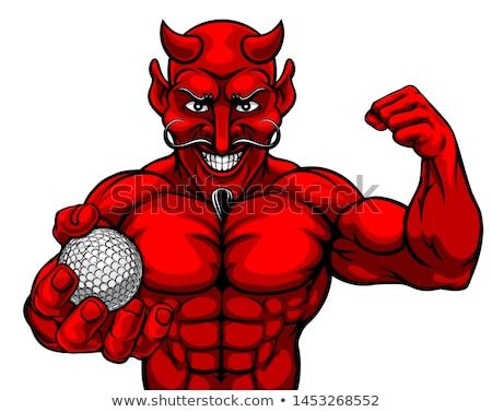 Duivel golf sport mascotte bal Stockfoto © Krisdog
