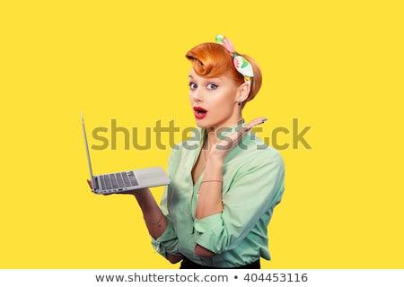 Stock fotó: Meglepődött · retro · nő · pop · art · klasszikus · giccs