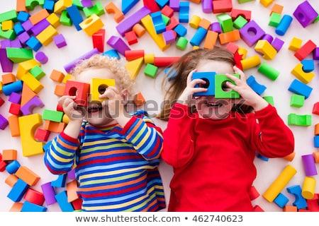 Stockfoto: Gelukkig · leeftijd · kinderen · spelen · kleurrijk