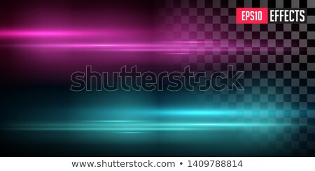 Purple And Blue Lens Flares With Streaking Distortion Glowing Fog Transparent Light Effect Vector Foto stock © Tashatuvango