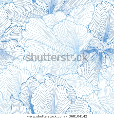 floral seamless background with outline chamomiles flowers Stock photo © Margolana