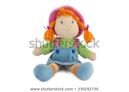 Bambola giocattolo icona sottile line vettore Foto d'archivio © smoki