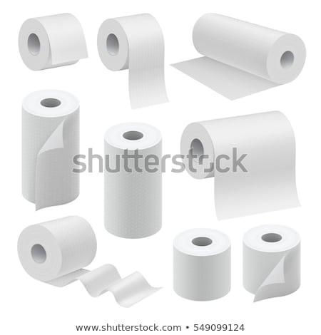 Realista papel higiênico isolado vetor para cima Foto stock © MarySan