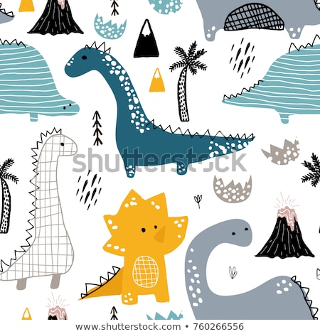 Cute abstract seamless pattern with dinosaurs.  Stock photo © Margolana